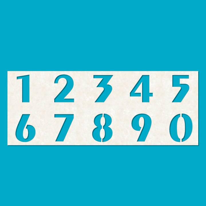 Трафарет цифр Шрифт 14 - Три кита, Рекламно-производственный комплекс