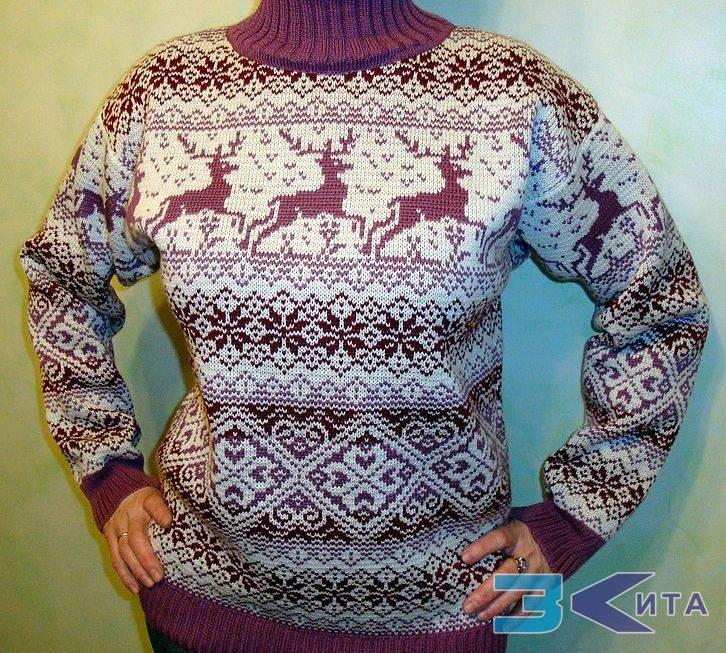 Женский свитер с орнаментом с доставкой
